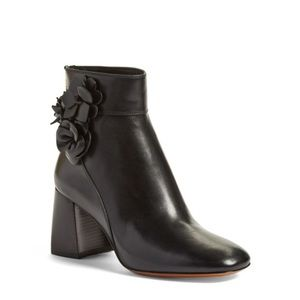 Tory Burch blossom block heel ankle boots 11